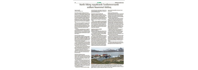 Presse: North Viking eqqakkanik Tasiilameersunik