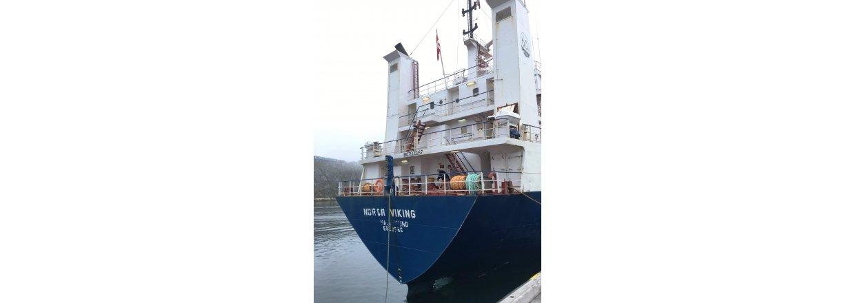ESANI a/s tester lastskib  - Første afhentning af affald bliver fra Tasiilaq