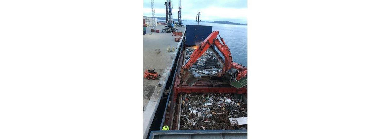 Vellykket første afhentning af affald med North Viking